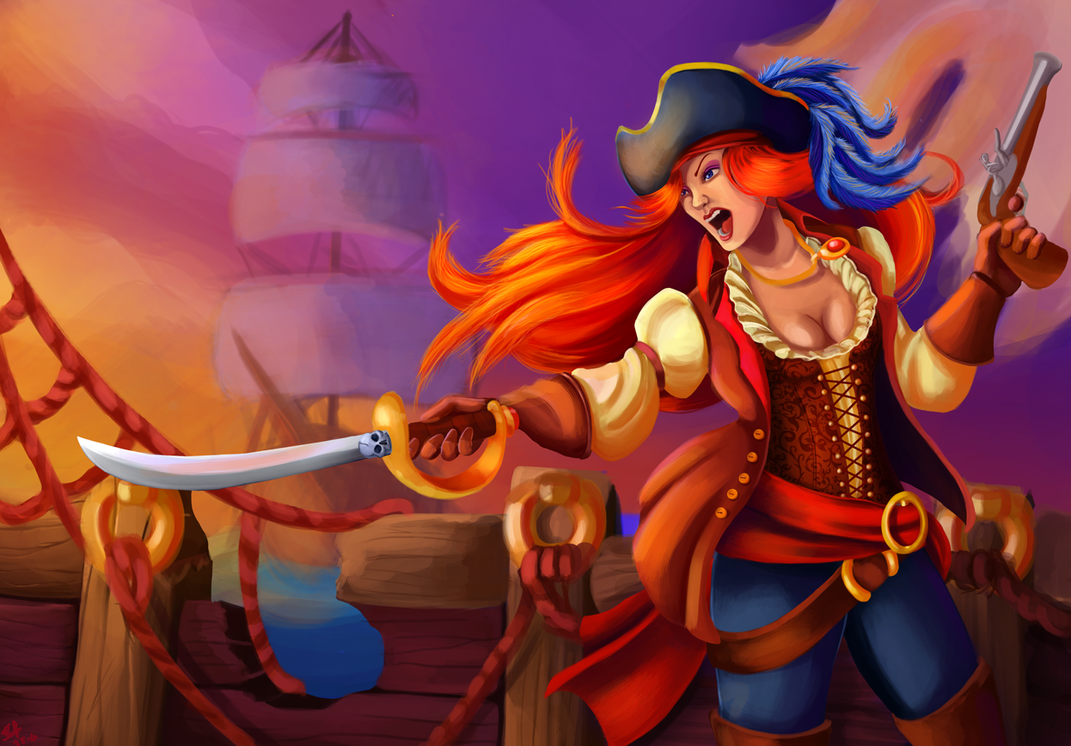 Pirate Woman by Kitty-Craftsy