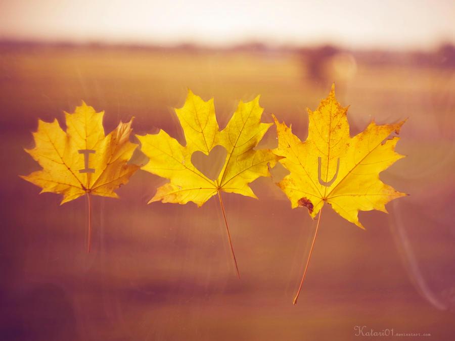 i love you autumn by katari01 on deviantart