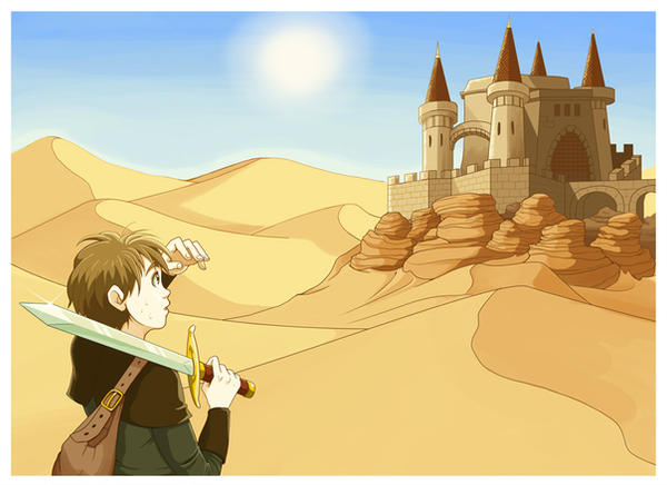 Boy in the desert. by MilkyNeko