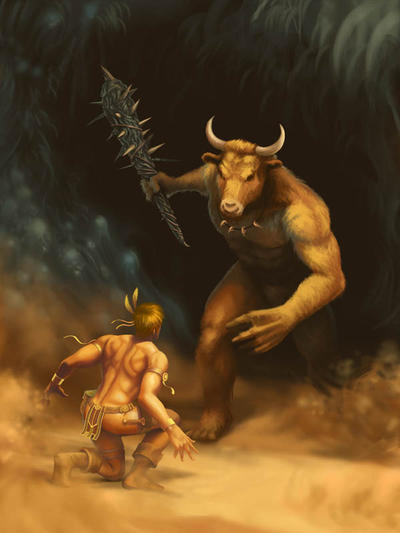 Challenge of the Minotaur by Pegahoul