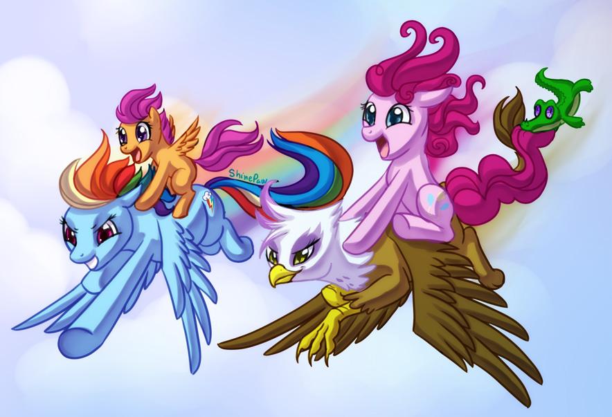 Flight race by ShinePawPony