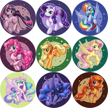 Pony buttons by ShinePawPony