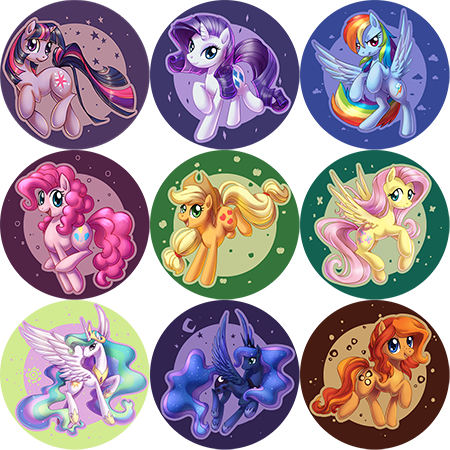 Pony buttons