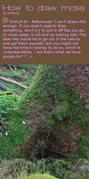 How to draw moss