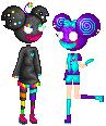 NeonMau5 and JitterMau5 by CATGUTTS