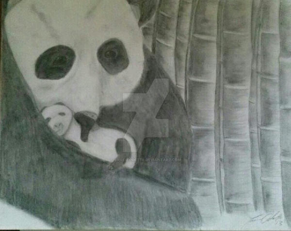 panda baby by tracieodette