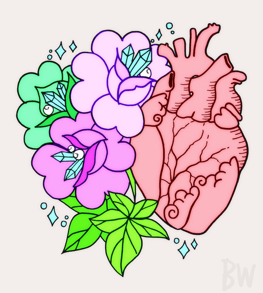 Heart in Full Bloom by BrandiWeingart