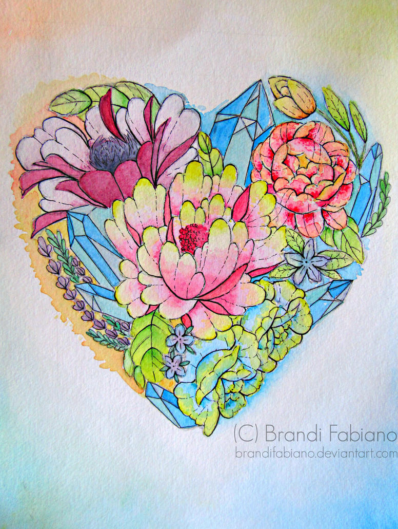 Heart Bouquet by BrandiFabiano