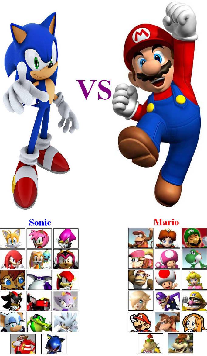 ad89b91846f83 Sonic VS Mario by LionelB on DeviantArt