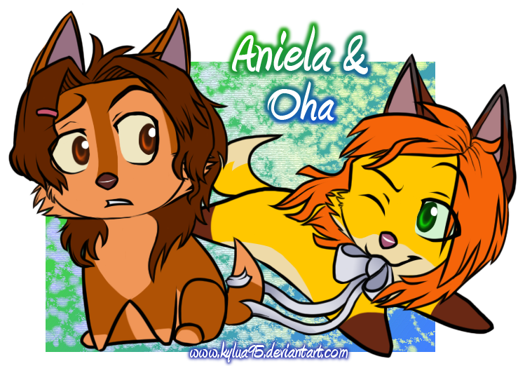 Chibi Aniela and Oha by Kylua95