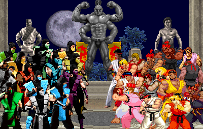 Mortal Kombat Vs Street Fighter By Elberto333 On Deviantart