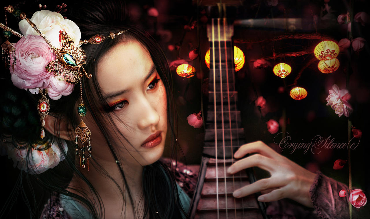 wallpaper geisha corals girl - photo #17