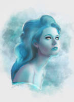 Mystic Girl (Digital Drawing - Procreate) by lunaroveda