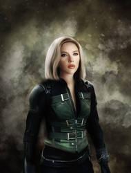 Black Widow - Infinity War (Digital Drawing) by lunaroveda