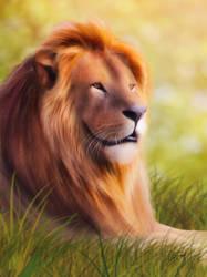 Lion (Digital Drawing) by lunaroveda