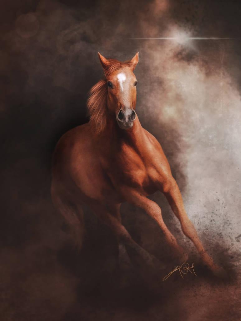 Quarter Horse (Digital Drawing) by lunaroveda