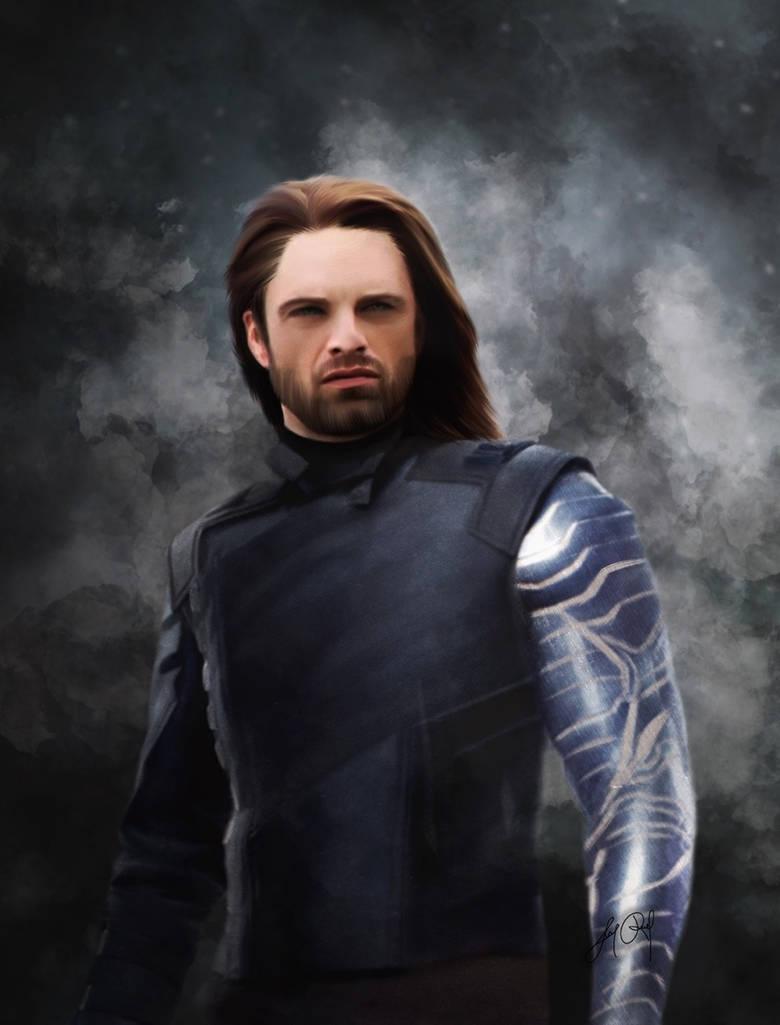 Winter Soldier - Infinity War (Digital Drawing) by lunaroveda