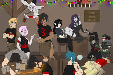 Party at the Dead Horse Tavern by Shukafae