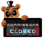 Freddy Commissions Closed Stamp by BlueBismuth