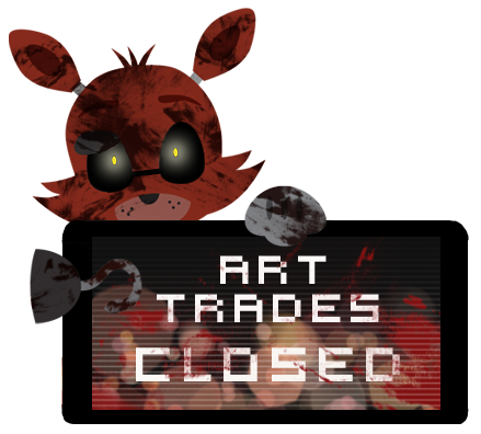 Foxy Art Trades Closed Stamp by Ink-cartoon