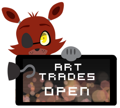 Foxy Art Trades Open Stamp