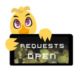 Chica Requests Open Stamp by BlueBismuth