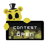Golden Freddy Contest Open Stamp by BlueBismuth