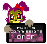 PC - Pixell Points Commissions Open Stamp by BlueBismuth