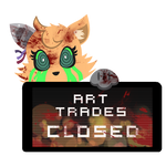 PC - Carae Art Trades Closed Stamp by BlueBismuth