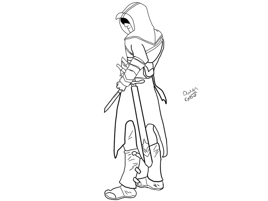 how to draw assassins creed easy