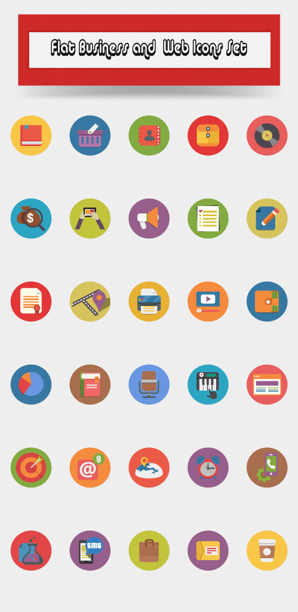 Flat-business-and-web-icons-set by CURSORCH on DeviantArt