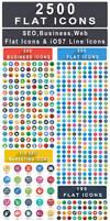 2500+ Flat Icons Bundle : Web, Seo, Business Icons