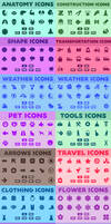 Vector Icons Bundle   Glyph Icons - Solid Icon