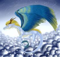 Feathery dragon by Siriliya