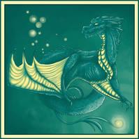Green dragon by Siriliya