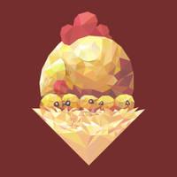 Cute Vector Chicken Family by Siriliya