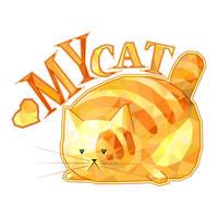 Gold Polygonal Cat by Siriliya