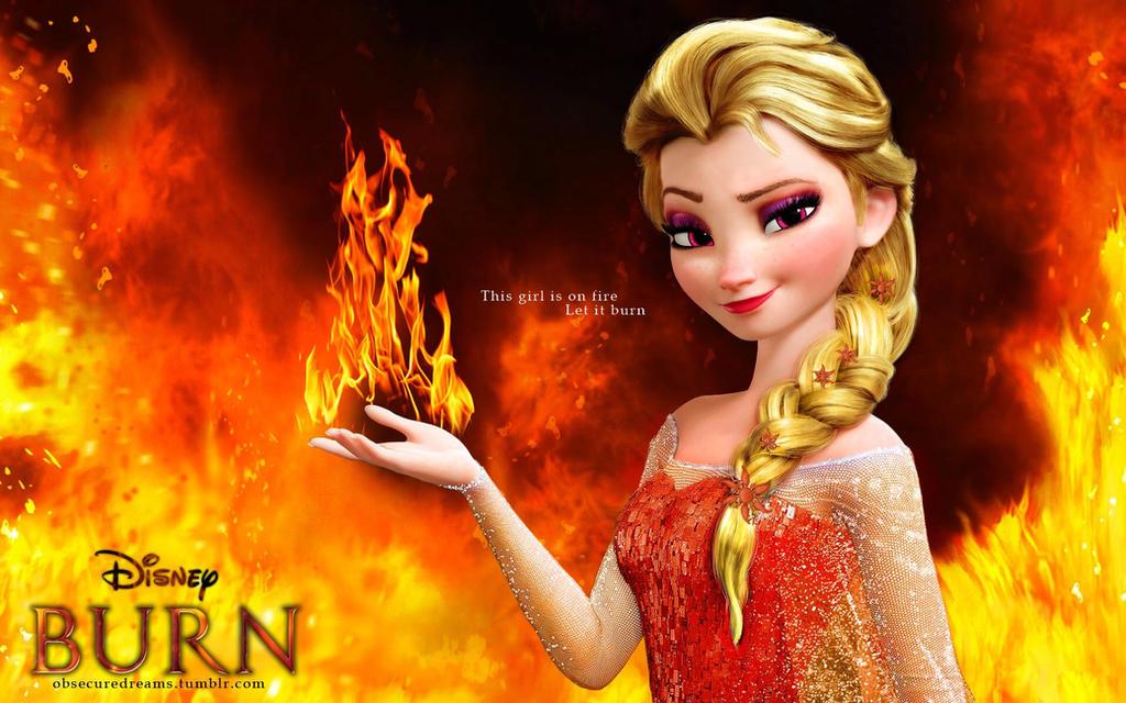 Fire Elsa: Burn