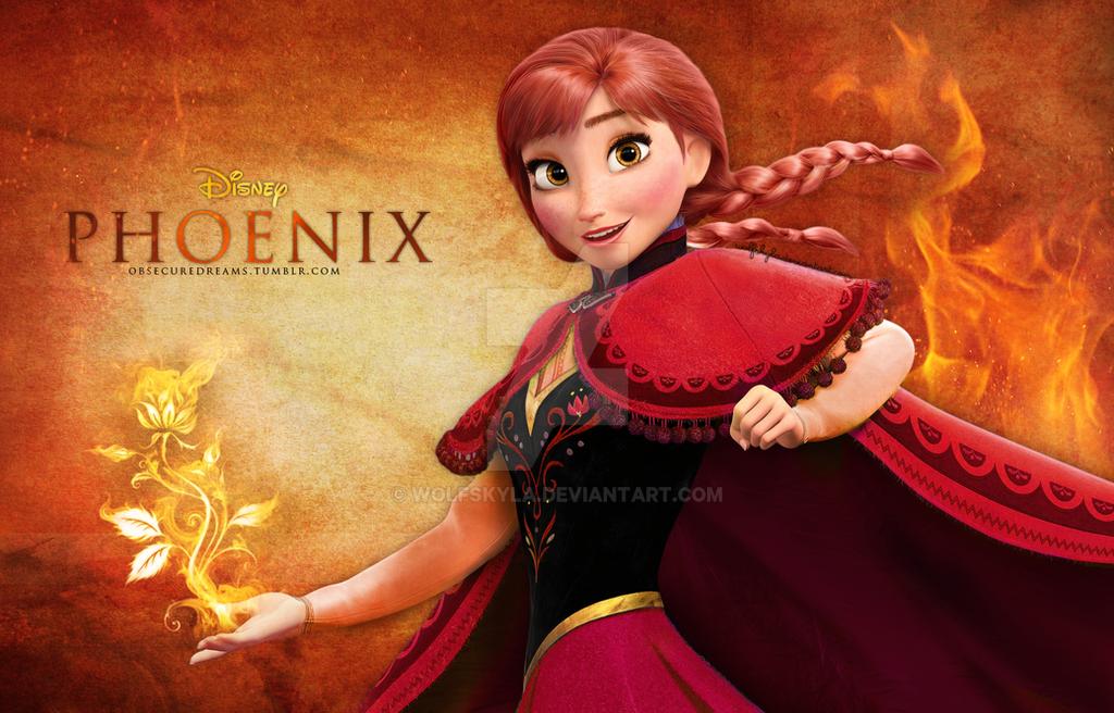 Anna the Fire Princess by wolfskyla