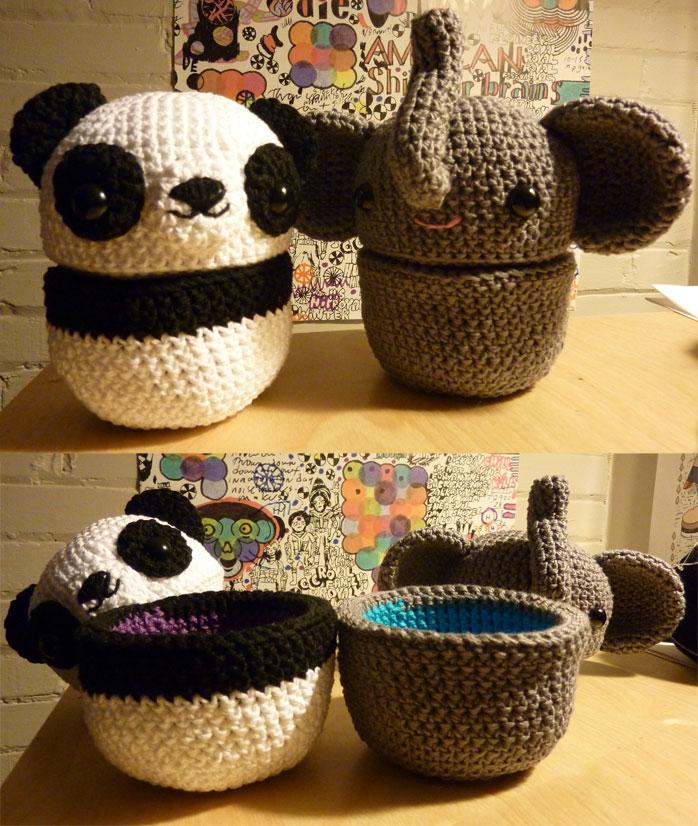 Elephant and Panda pods by krowzivitch on DeviantArt