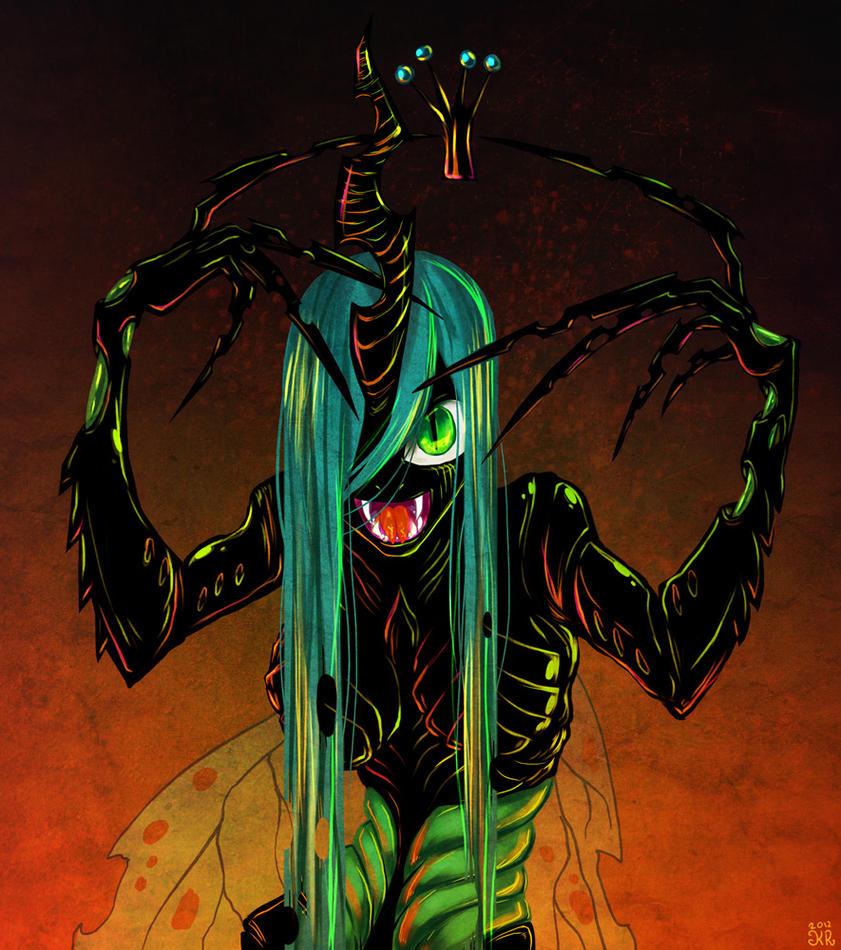 Queen Chrysalis by krowzivitch