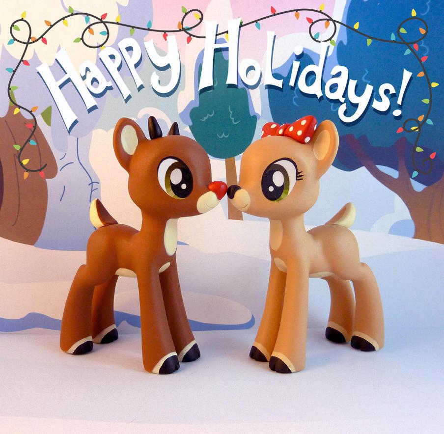 Rudolph and clarice by krowzivitch on deviantart