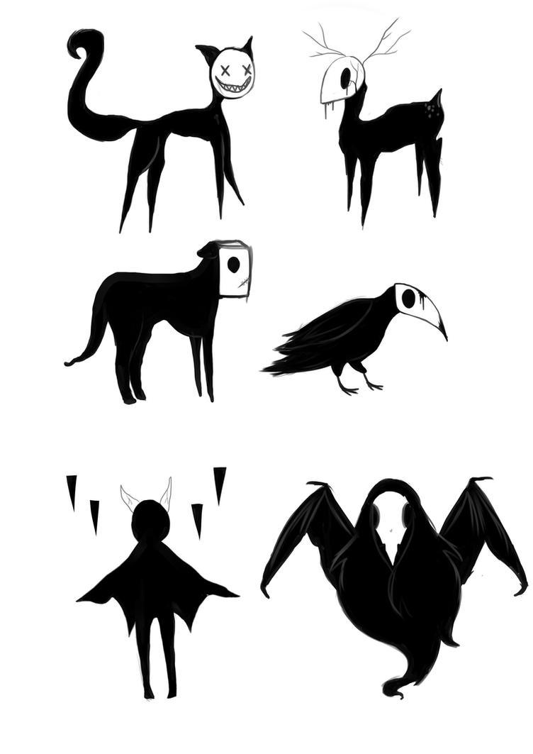 Shadow creatures by littlemissbubbles on DeviantArt  Shadow creature...