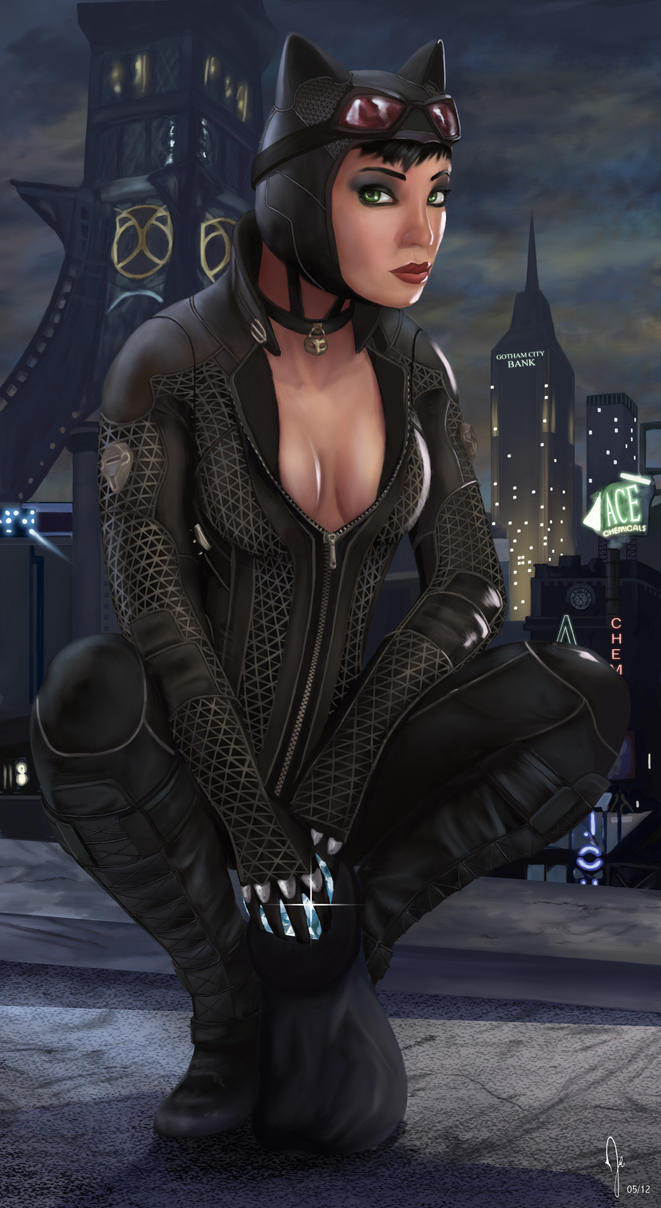 Batman Arkham City - Catwoman by RuddsArt