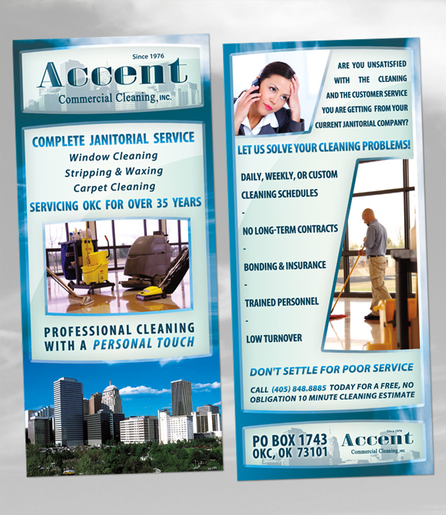 Accent commercial cleaning flyer by ipholio on deviantart for Commercial cleaning brochure templates