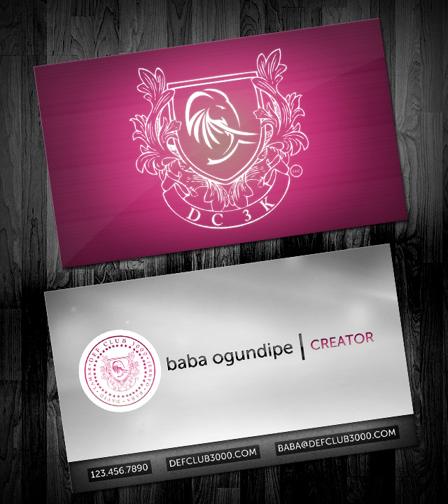 Def Club 3000 Business Cards
