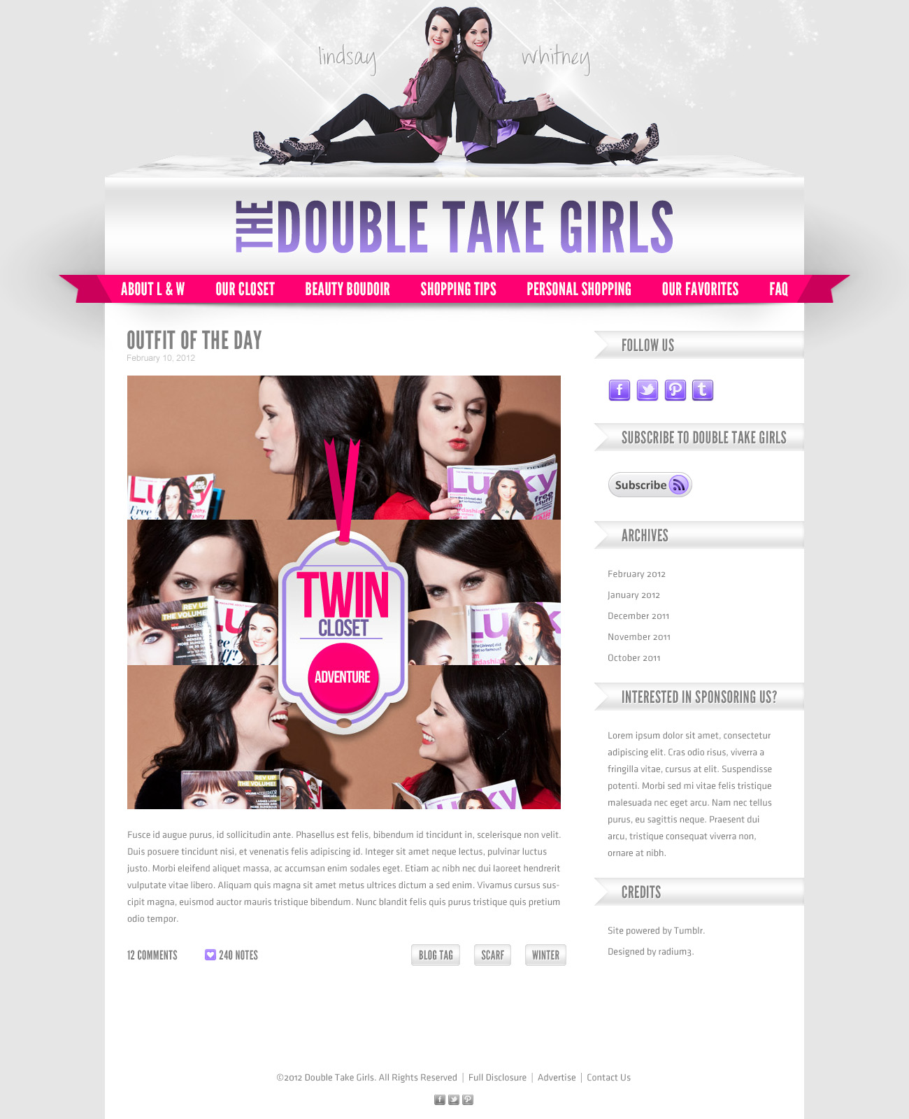 Double Take Girls Tumblr