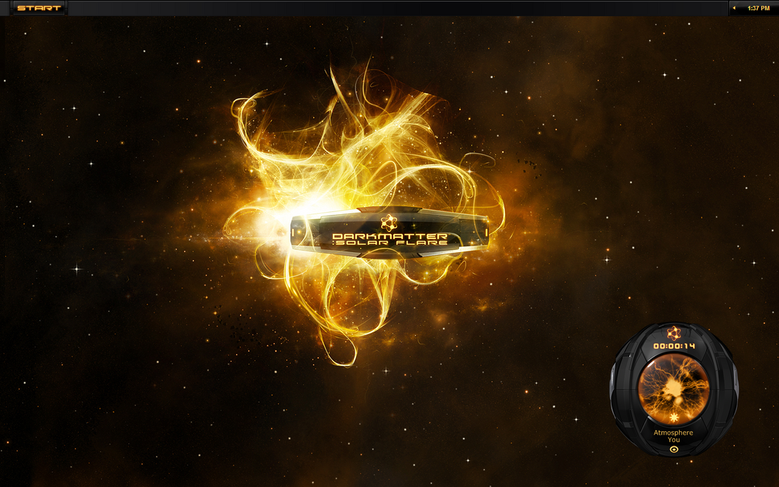 Darkmatter Solar Flare Desktop by ipholio