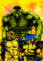 Hulk, Cyclop and Wolverine. by tonydax
