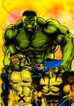 Hulk, Cyclop and Wolverine.